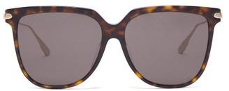 Christian Dior Diorlink D-frame Tortoiseshell-acetate Sunglasses - Tortoiseshell