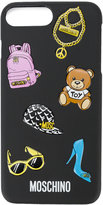 Moschino sticker detailed iPhone 7 plus case - women - PVC - One Size