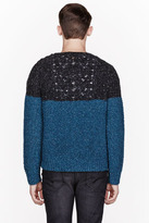 Diesel Teal BiColor Knit Indiano Sweater