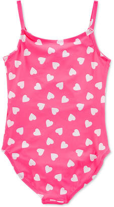 Carter's Carter Little & Big Girls 1-Pc. Heart-Print Swim Suit