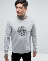 Pretty Green Jumper With Crew Neck In Slim Fit Grey