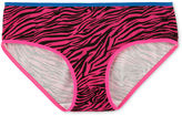 Maidenform Pink Zebra Hipster Panties - Girls 4-16