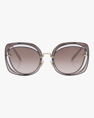 Miu Miu Oversized Metal Sunglasses