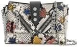 Kenzo Women's Grey Leather Shoulder Bag.