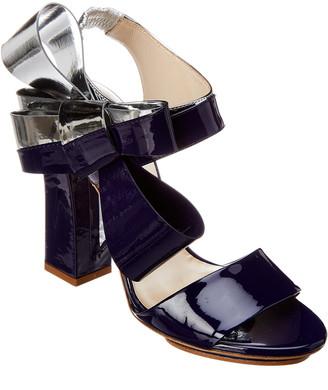 DELPOZO Bow Patent Sandal