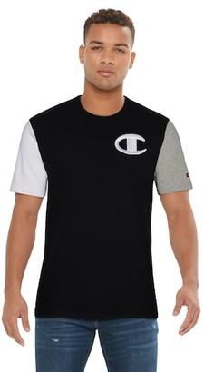 Champion Heritage Colorblock T-Shirt - Black / Oxford Grey White
