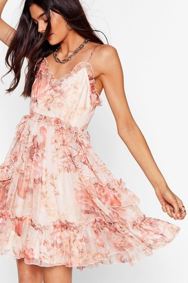 Nasty Gal Womens Rootin' For You Floral Ruffle Dress - Pink
