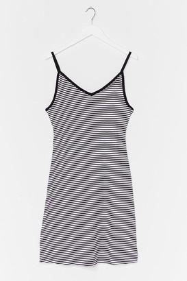 Nasty Gal Womens Do You Swing Striped Jersey Dress - Black - S