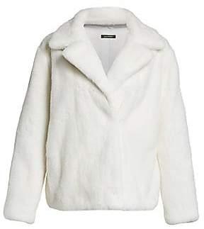 Zac Posen The Fur Salon Women's For The Fur Salon Mink Fur Notch Collar Jacket