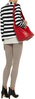 Alice + Olivia Striped cotton-blend blazer