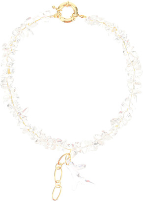 Timeless Pearly NECKLACE WITH TRANSPARENT PEARLS OS Gold
