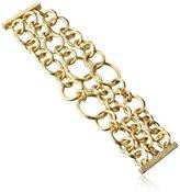 "Jardin 3-Row Textured Magnetic Link Bracelet, 7"""