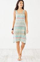 J. Jill Dipped-Hem Print Tank Dress