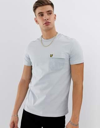 Lyle & Scott contrast pocket t-shirt in grey