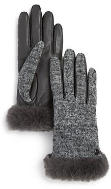 UGG Shorty Shearling-Cuff Tech Gloves