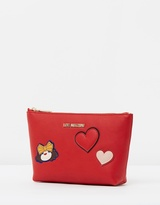 Love Moschino Pouch with Heart Detail