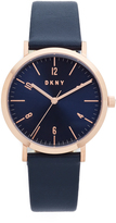 DKNY Minetta Leather Watch