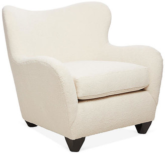 Kim Salmela Zola Wingback Chair - Cream