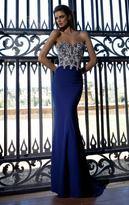 Tarik Ediz Shimmering Lace Strapless Sweetheart Gown 92595