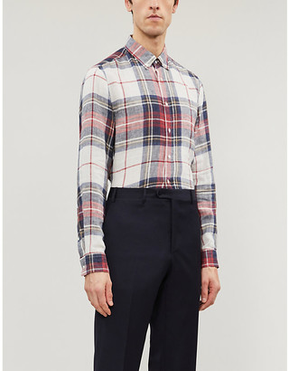 Brunello Cucinelli Checked linen shirt