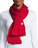 Canada Goose Wool Fringe Scarf