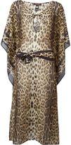 Roberto Cavalli leopard print kaftan - women - Silk/Cotton - S