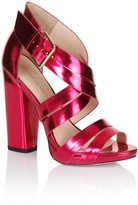 Thumbnail for your product : Little Mistress Pink Cross Over Multi Strap Heels