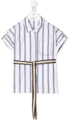 BRUNELLO CUCINELLI KIDS Striped Shirt
