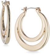 Nine West Gold-Tone Polished Double Hoop Earrings