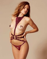 Agent Provocateur Angie Harness Burgundy