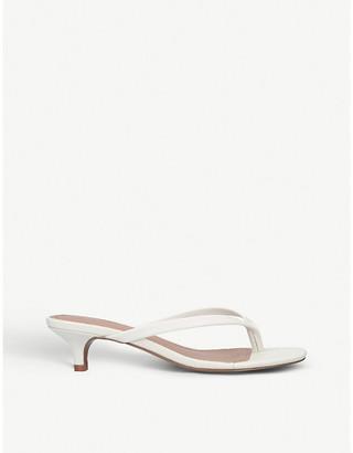 Who What Wear Siena kitten-heel leather sandals