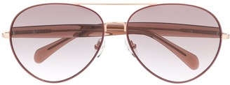 Matthew Williamson x Linda Farrow Primrose aviator sunglasses