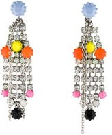 Tom Binns Neon Fringe Drop Earrings