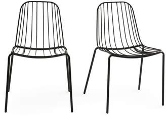 Am.pm. Bop Metal Chairs (Set of 2)