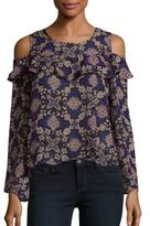 Romeo & Juliet Couture Kaleidoscope Print Cold Shoulder Top