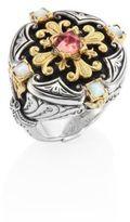 Konstantino Nemesis Mother-Of-Pearl & Pink Tourmaline Ring