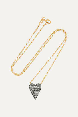 Sylva & Cie 18-karat Gold, Sterling Silver And Diamond Necklace - one size