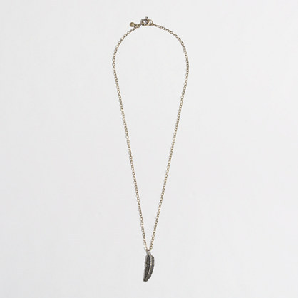 J.Crew Factory Factory crystal feather necklace