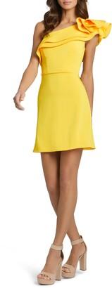 Mac Duggal Ieena For Mac Dugal Ruffle One-Shoulder Dress