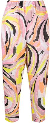 Emilio Pucci Printed Capri Trousers