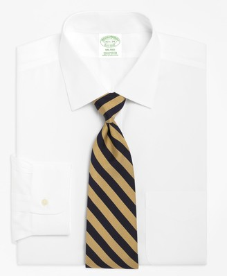 Brooks Brothers Milano Slim-Fit Dress Shirt, Spread Collar