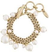 Lanvin pearl chain link bracelet