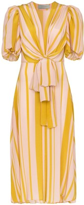Silvia Tcherassi Fidelia pouf-sleeve midi dress