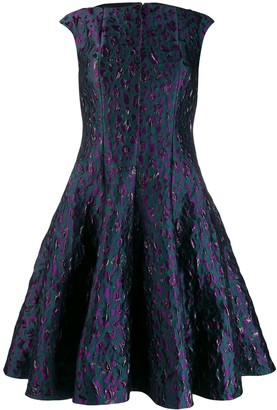 Talbot Runhof fancy beast jacquard dress