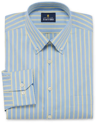 STAFFORD Stafford Executive Non-Iron Cotton Pinpoint Oxford Big And Tall Mens Button Down Collar Long Sleeve Stretch Dress Shirt