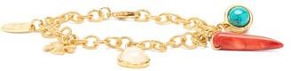 Sylvia Toledano - Lucky Charms Turquoise & Carnelian Bracelet - Gold