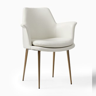 west elm Finley Wing Leather Dining Chair