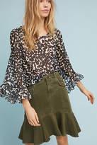 Maeve Utility Flounced Skirt