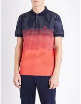 Hugo Boss Regular-fit Striped Cotton Polo Shirt