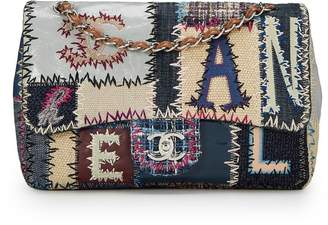 Chanel Multicolor Patchwork Half Flap Jumbo